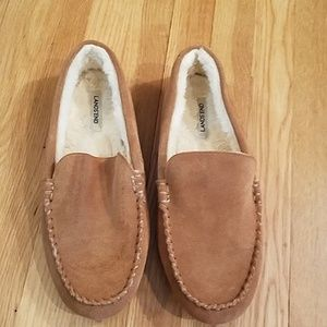 LANDS END SUEDE SLIPPERS